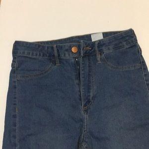 H & m jeans high waist ankle